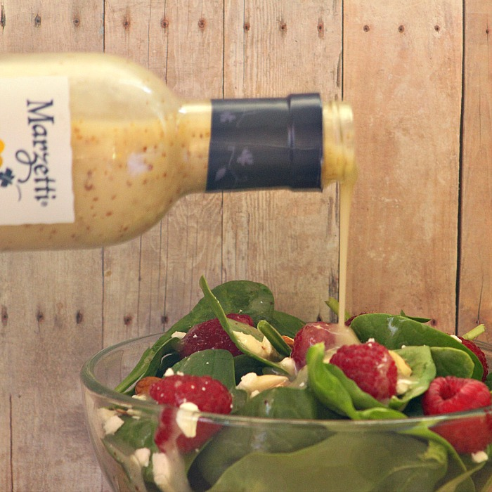 Spring Spinach Salad with Dijon Champagne Dressing
