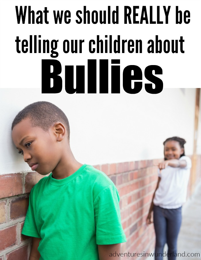 tell your kids about bullies