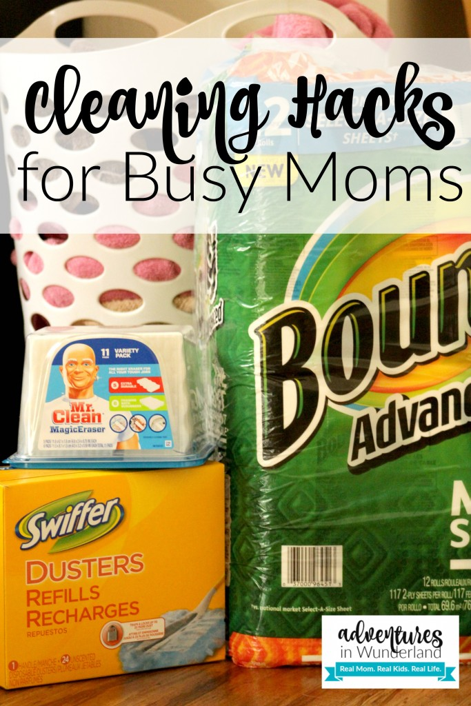 cleaning hacks for busy moms