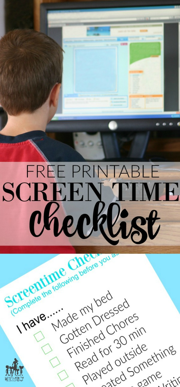 Summer Contract And Screen Time Checklist