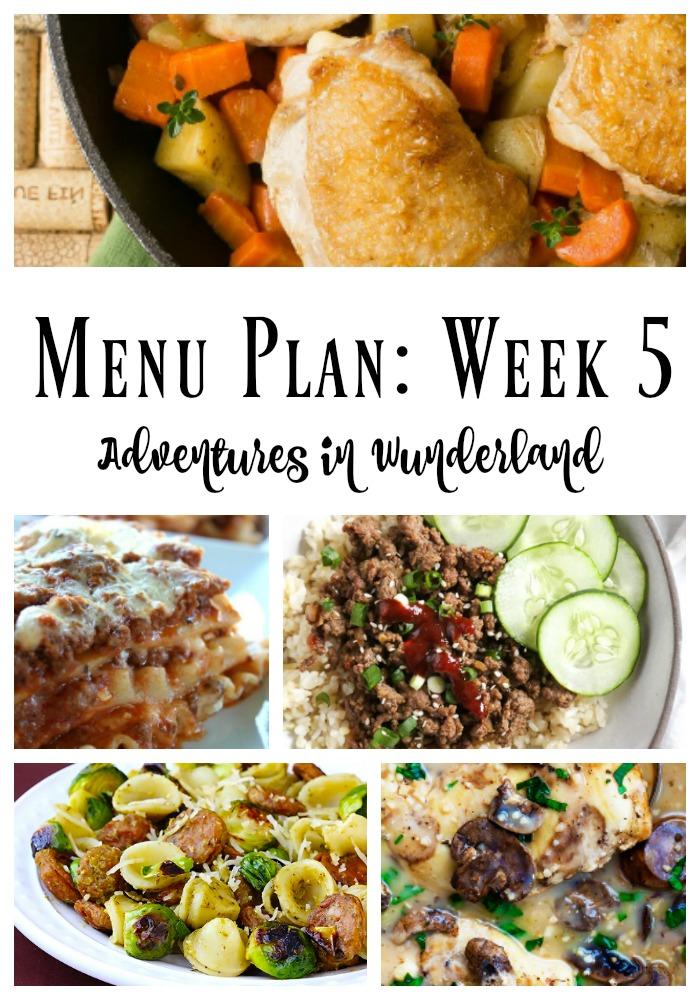 menu plan
