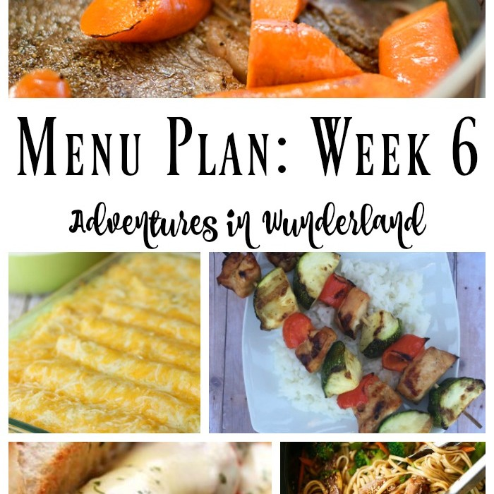 Weekly Menu Plan: Week 6