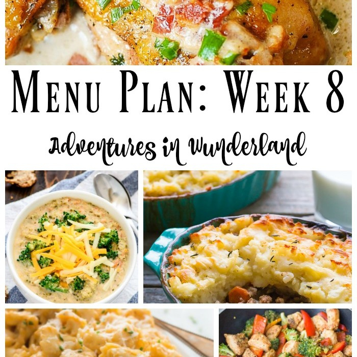 Menu Plan: Week 8