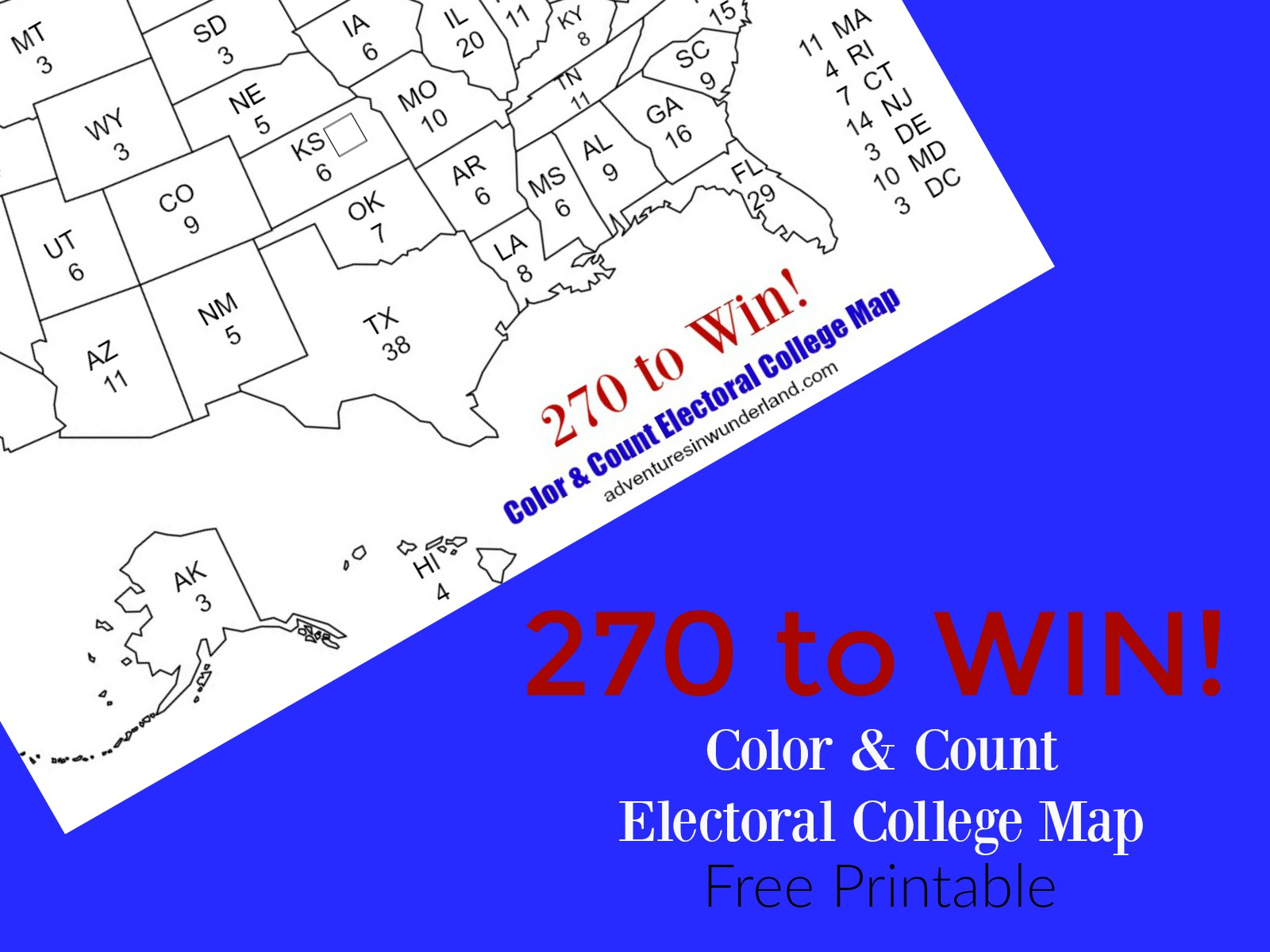 image relating to Printable Electoral College Map identify Electoral Map Coloring Web page