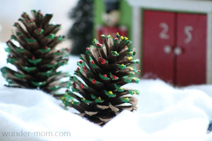 Painted Pine Cone Christmas Tree