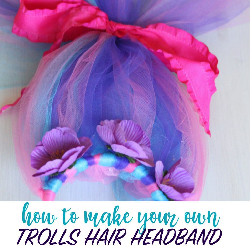 DIY Trolls Hair  sc 1 st  Wunder-Mom & Make your own Trolls Hair Headband