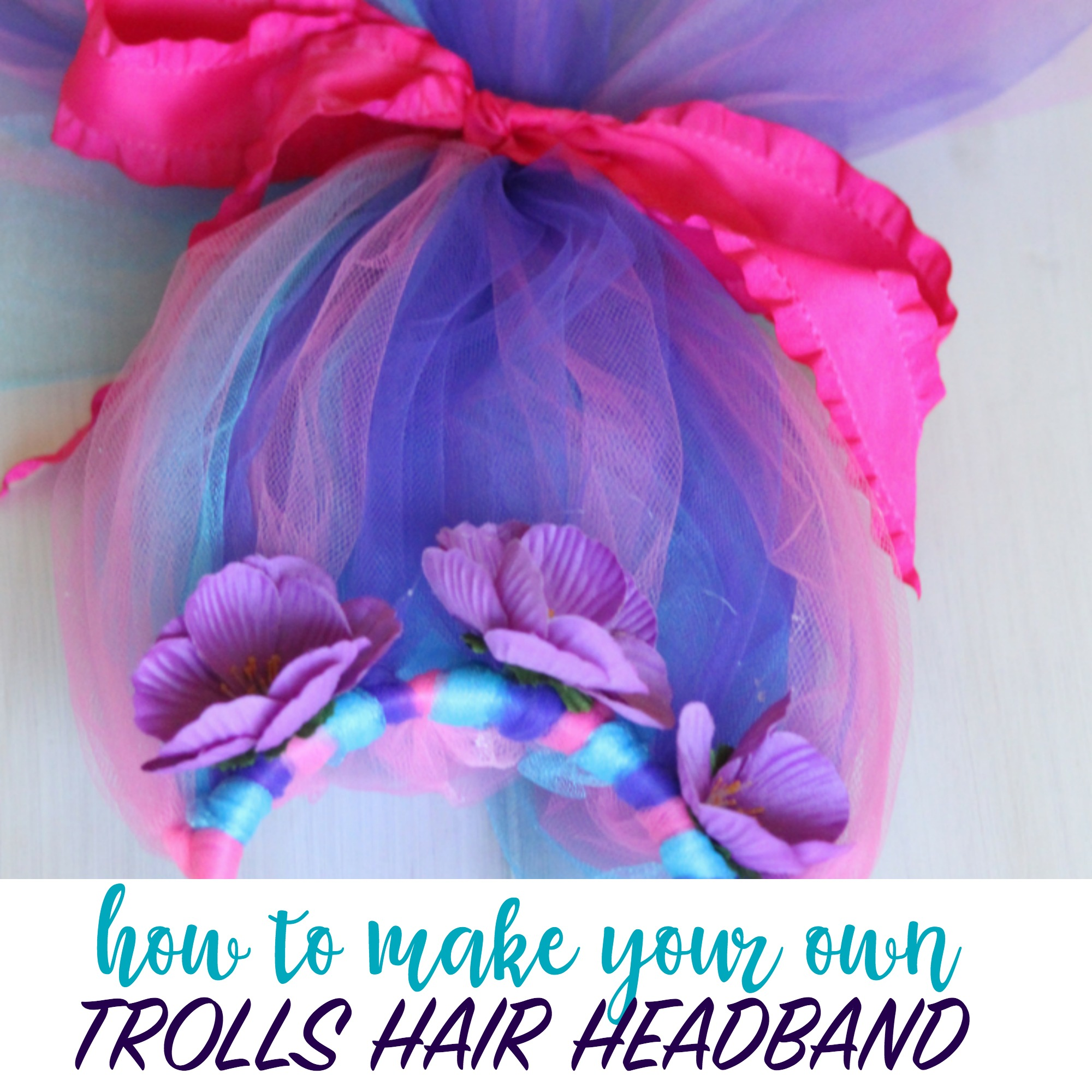 Trolls Themed Games Activities And Party Favors DIY TROLLS HAIR HEADBAND