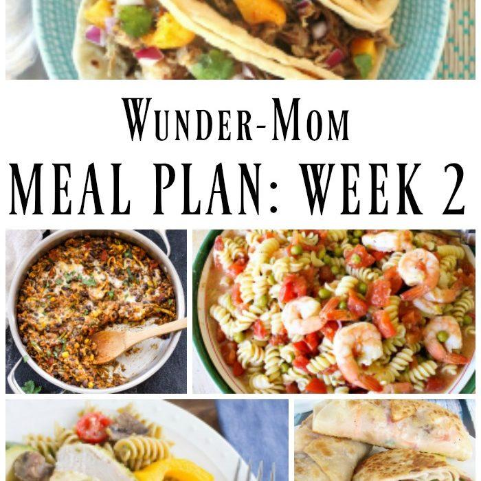Weekly Meal Plan: Week 2