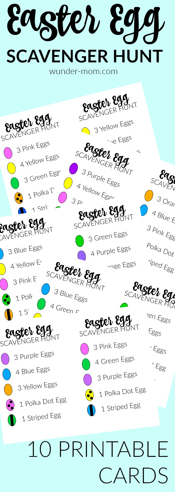 easter egg scavenger hunt printable cards