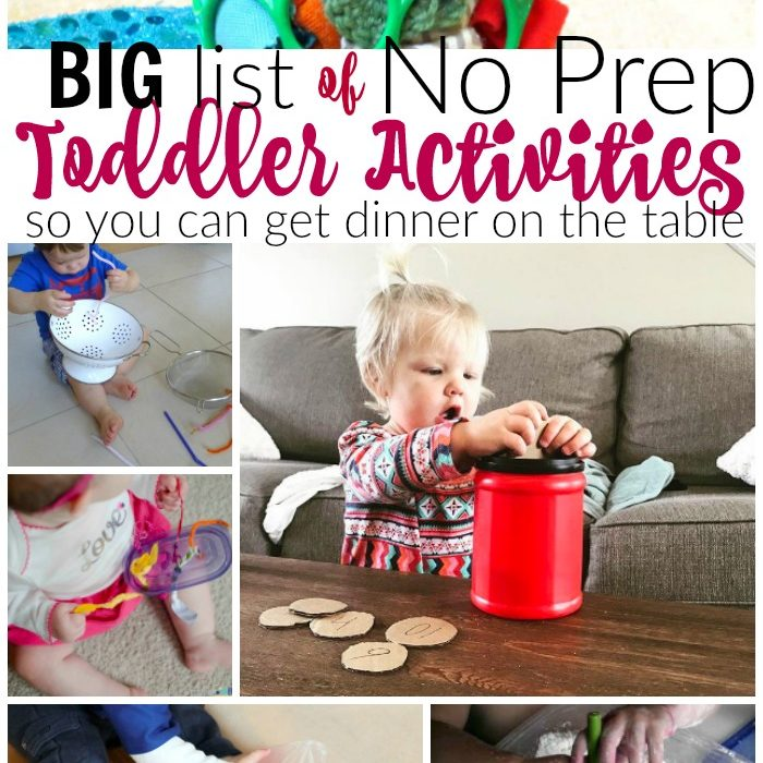 No Prep Toddler Activities