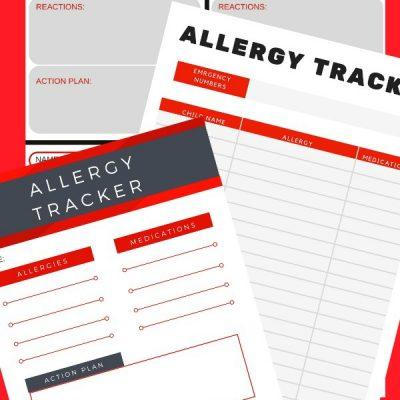 printable allergy tracker