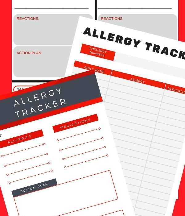 FREE Printable Allergy Tracker