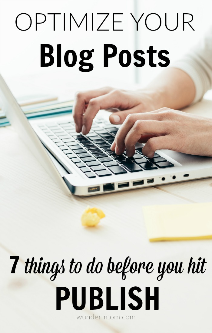 how to optimize blog posts