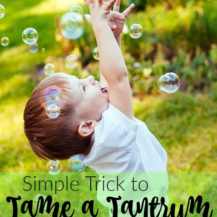 Simple Trick to Tame a Tantrum Almost Instantly