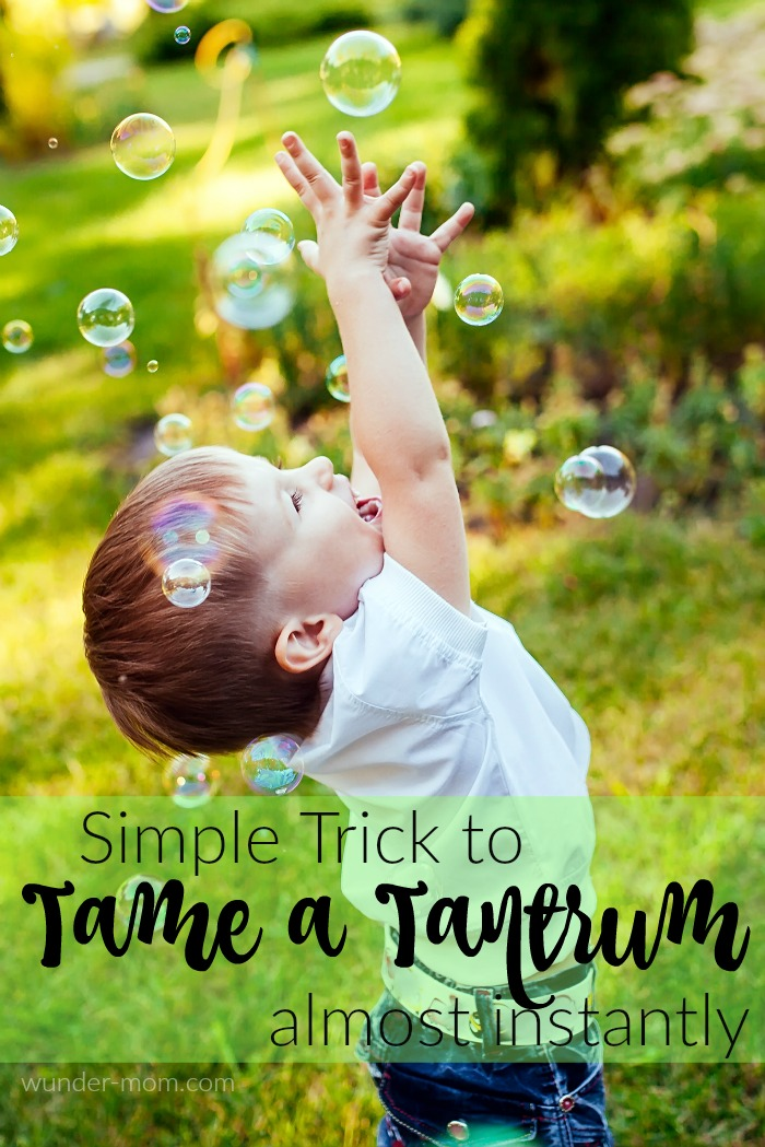 tame a tantrum and calm a child