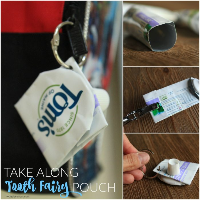 Take Along Tooth Fairy Pouch – made from a recycled toothpaste tube