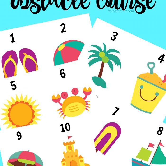 Summer Camp Obstacle Course Printable Cards