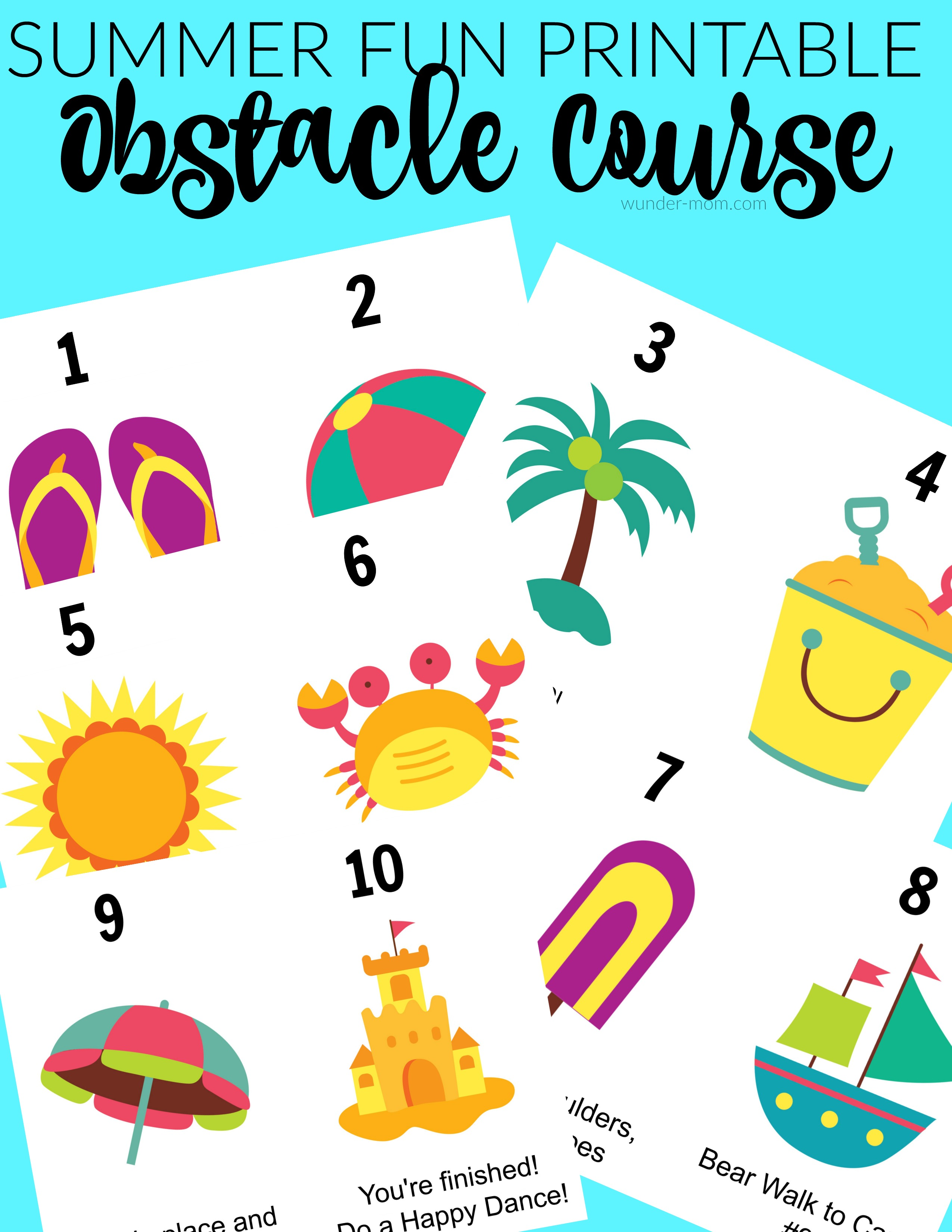 photo relating to Printable Cards for Kids identify Summertime Camp Problem Class Printable Playing cards