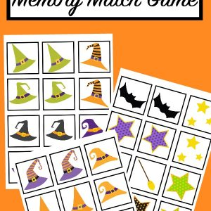 printable halloween memory match