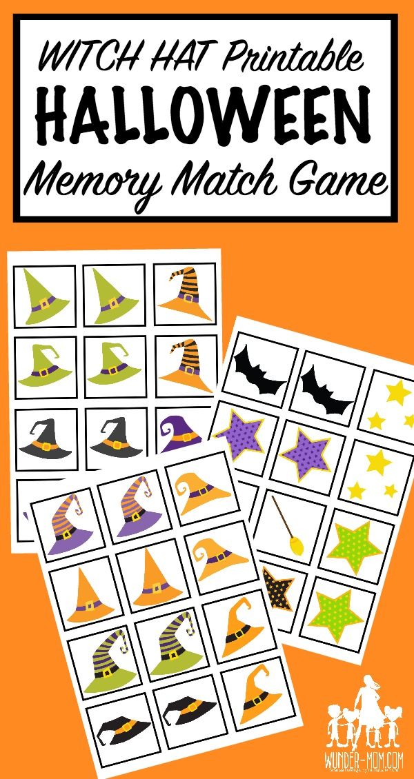 image relating to Printable Match Game identify Printable Halloween Memory Game Activity