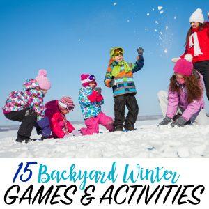 backyard winter activities for kids
