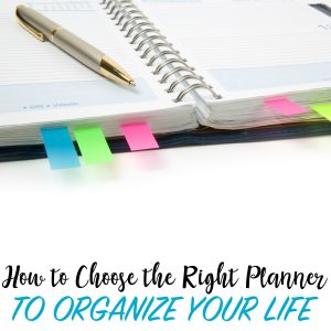 organization hacks, choosing the right planner