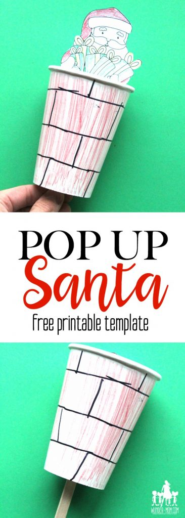 pop up santa craft