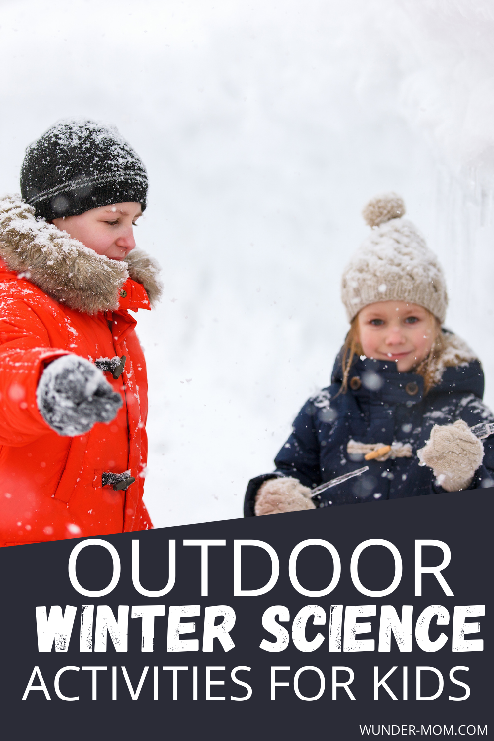 Outdoor winter science activities for kids