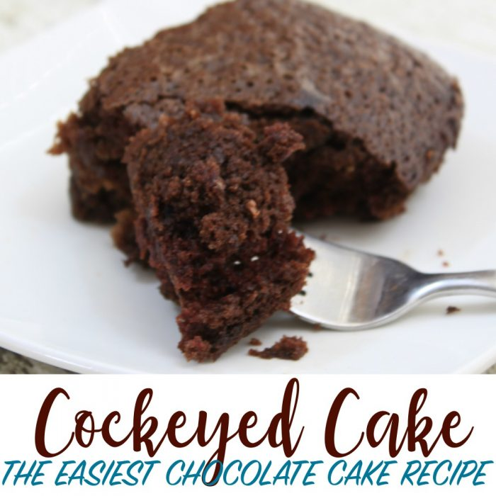 Cockeyed Cake – an easy chocolate cake recipe you'll flip for!