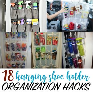 hanging shoe holder organization hacks