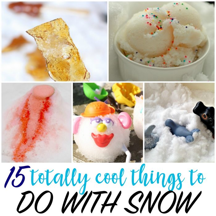 15 totally cool things to do with snow
