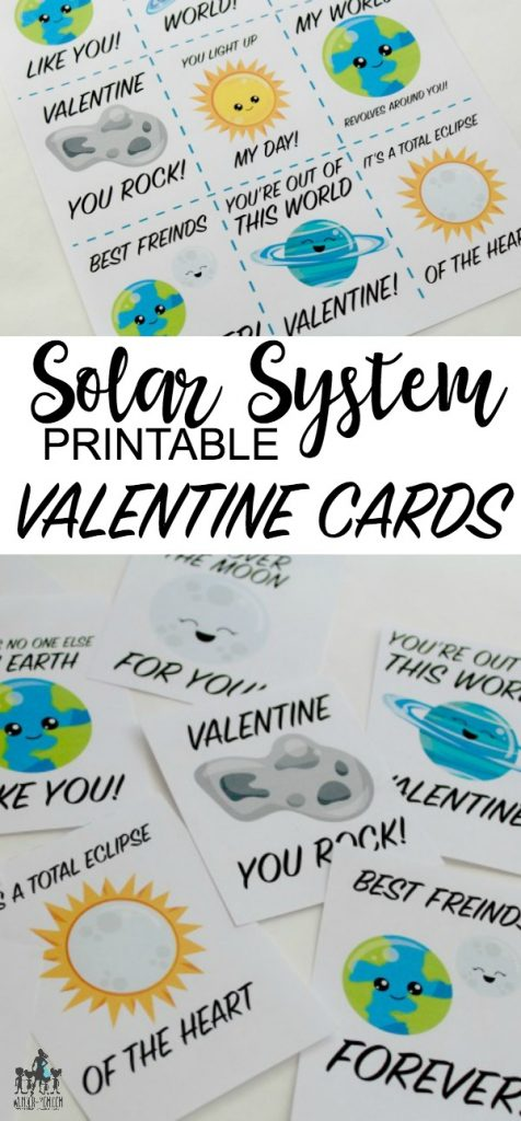 SOLAR SYSTEM PRINTABLE VALENTINE CARDS
