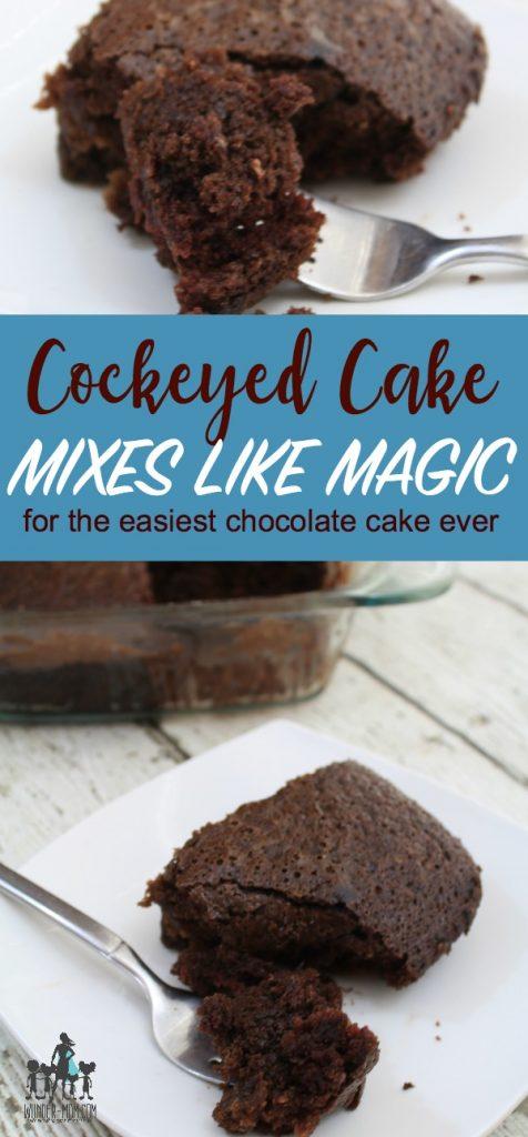 cockeyed cake, easy chocolate cake recipe