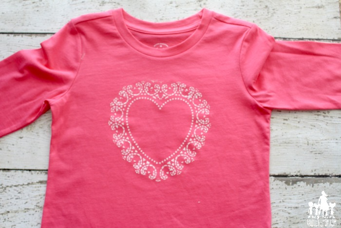 vintage heart shirt tutorial