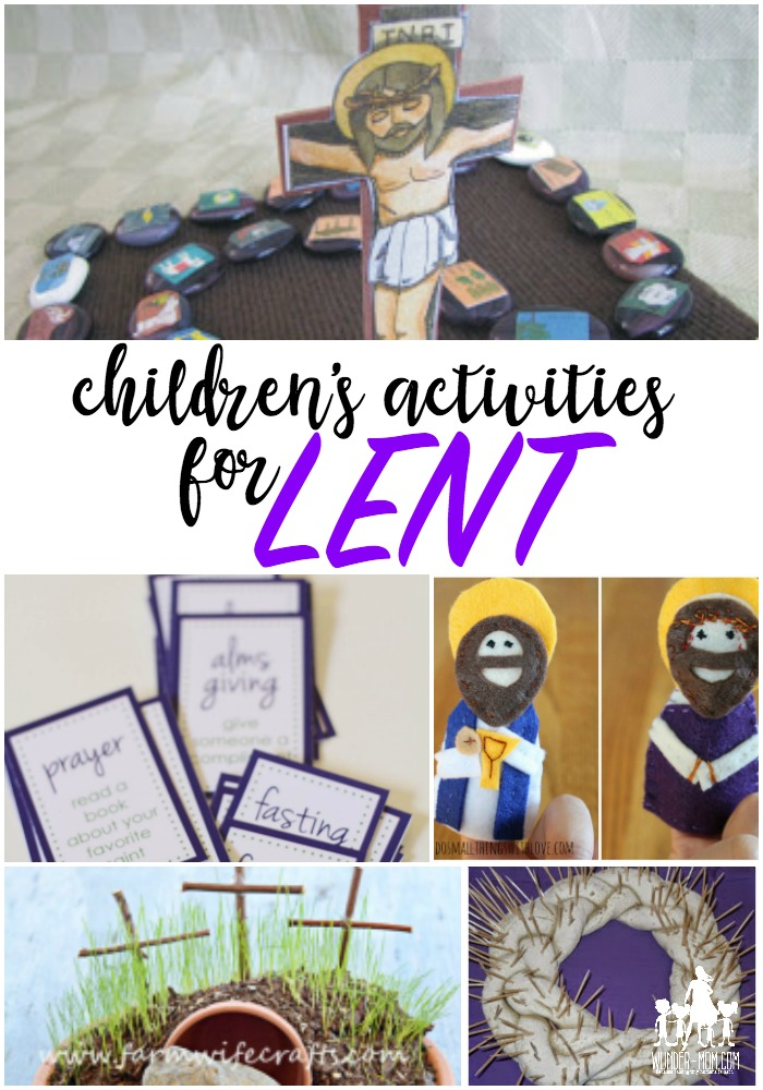 kids activities lenten season