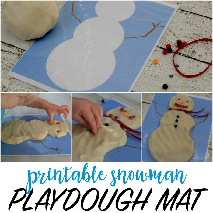 Snowman Printable Playdough Mat