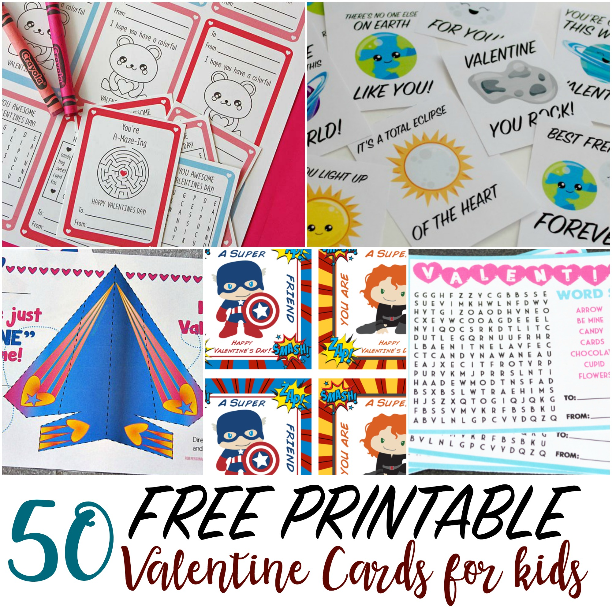 photo regarding Printable Valentine Cards for Husband referred to as 50 Printable Valentine Playing cards for Young children