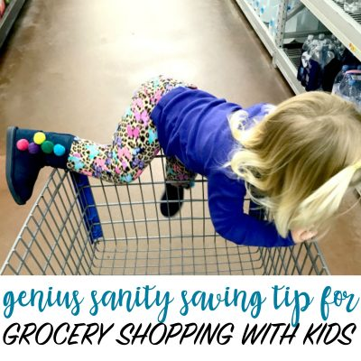 Genius Sanity Saving Tip for Grocery Shopping with Kids