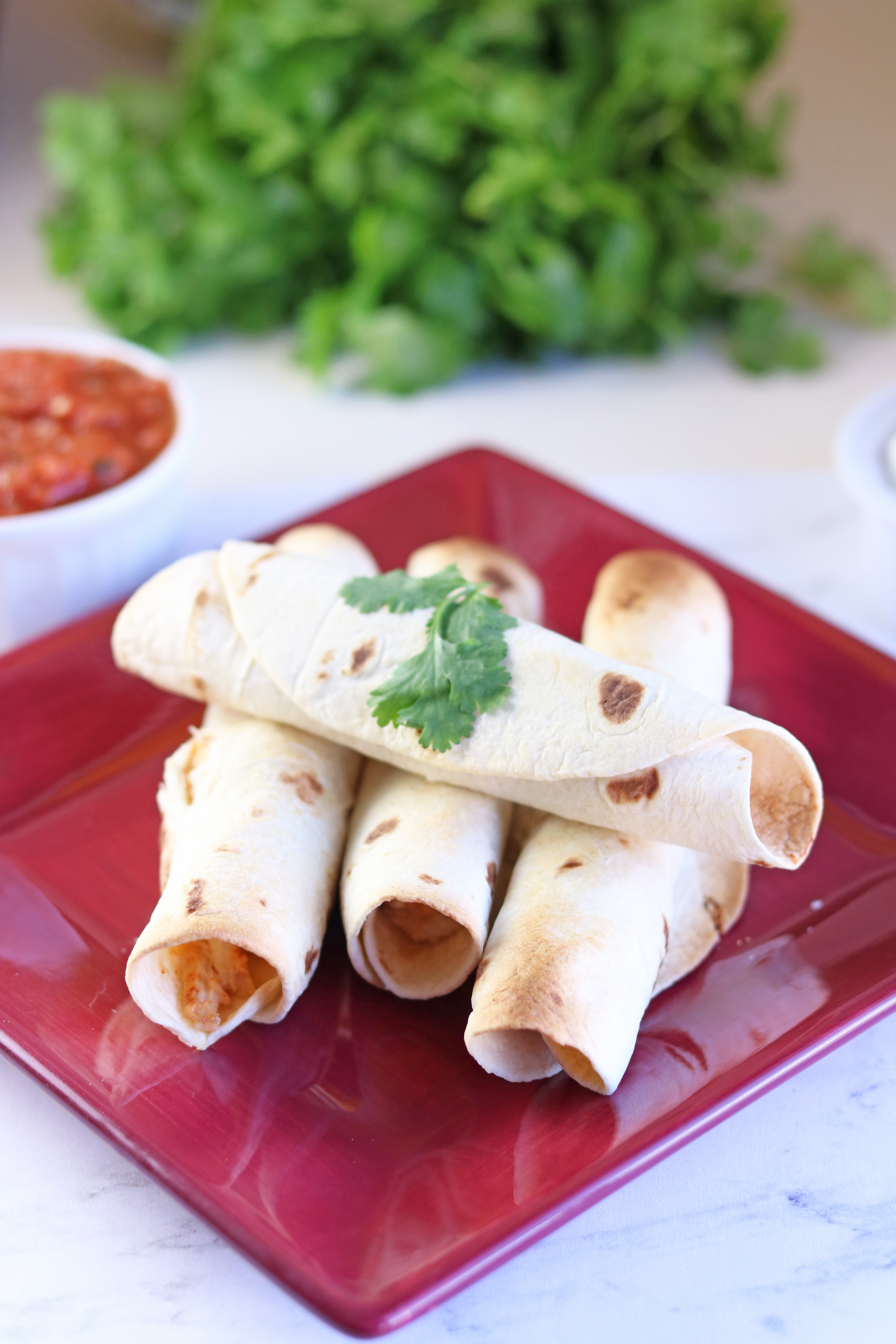 air fryer chicken and cheese taquitos