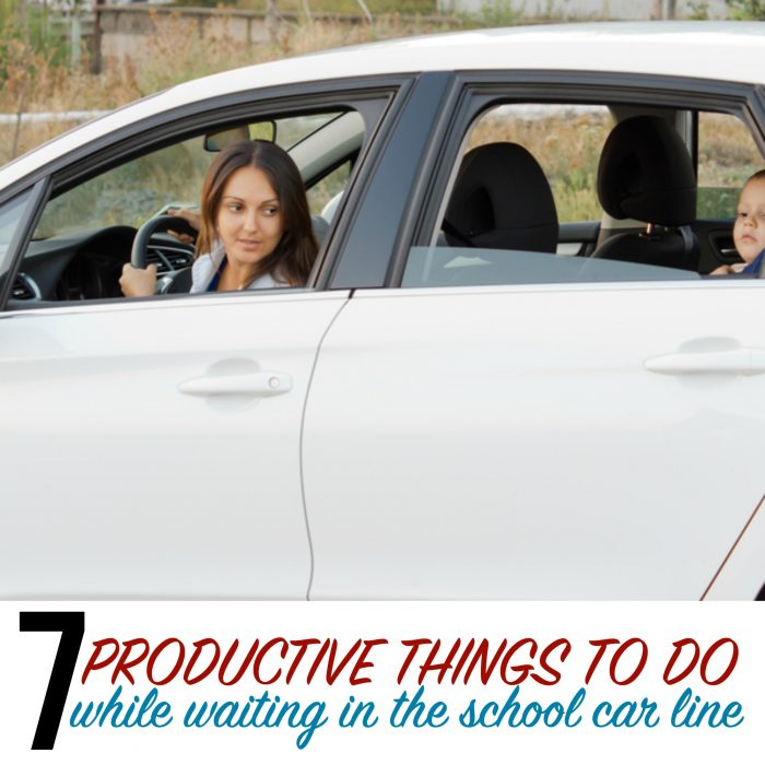 7 productive things to do while you wait in the school car line