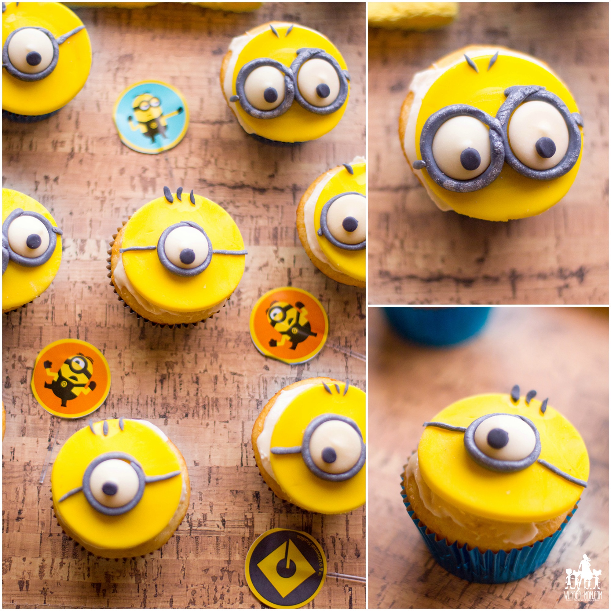minion cupcakes for minion party