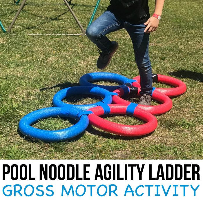 Pool Noodle Agility Ladder Gross Motor Activity for Kids