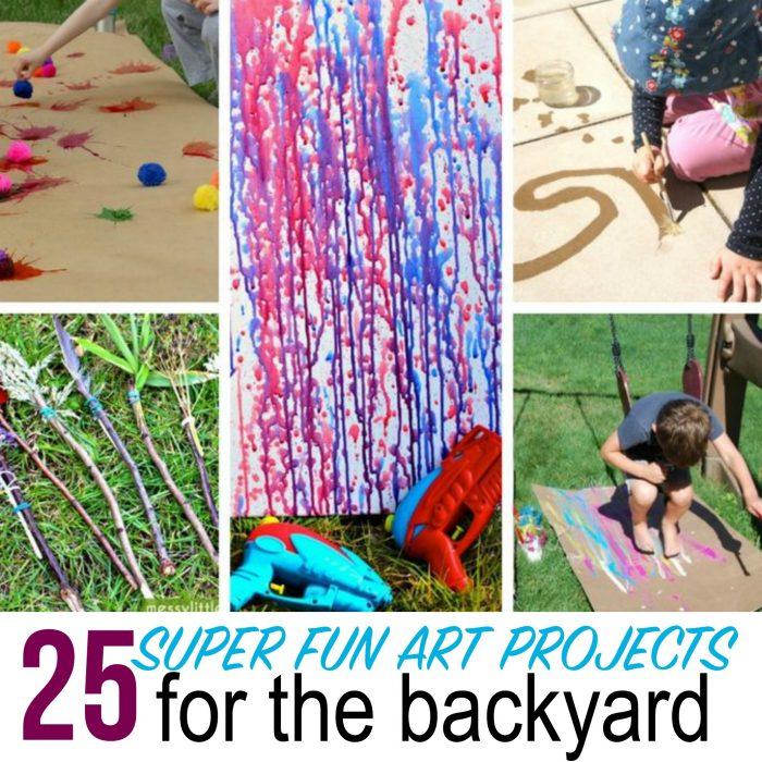 25 Backyard Art Projects for Kids