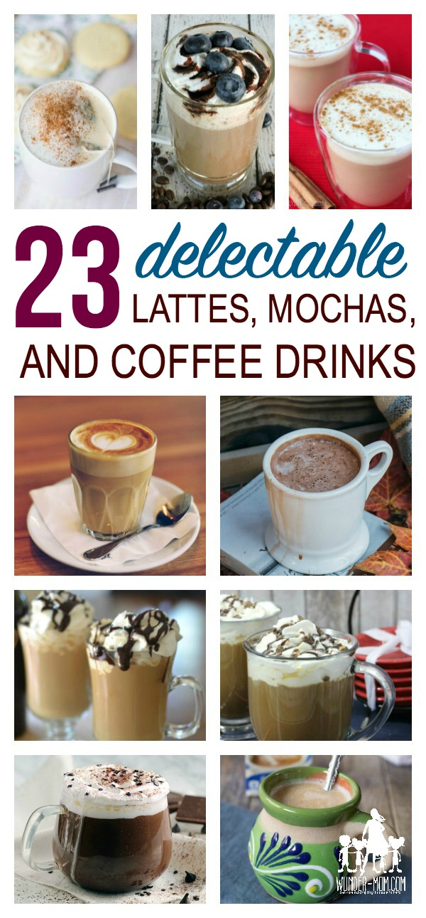 lattes, mochas, and coffee drinks