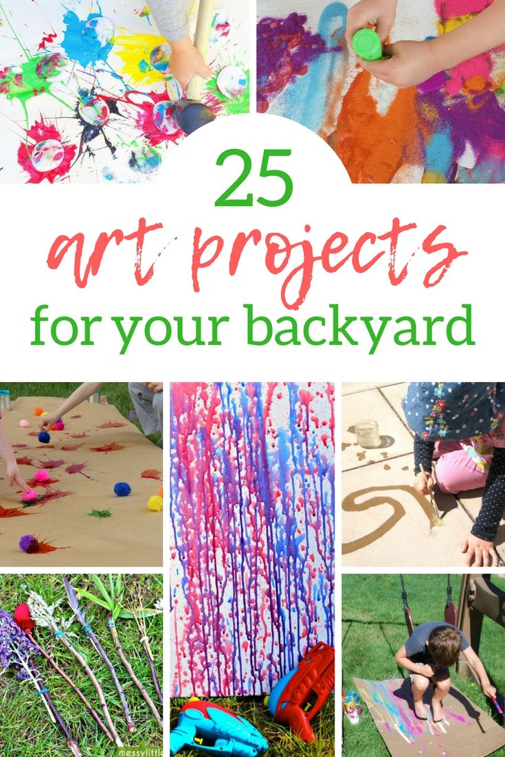 backyard art projects