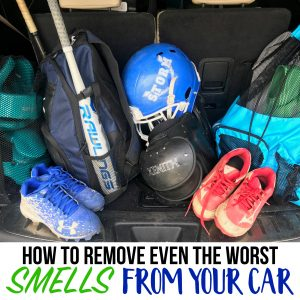 how to remove smells from car