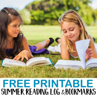 Summer Reading Log and Bookmark Printables