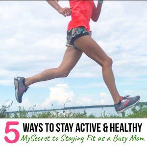 physically active healthy mama