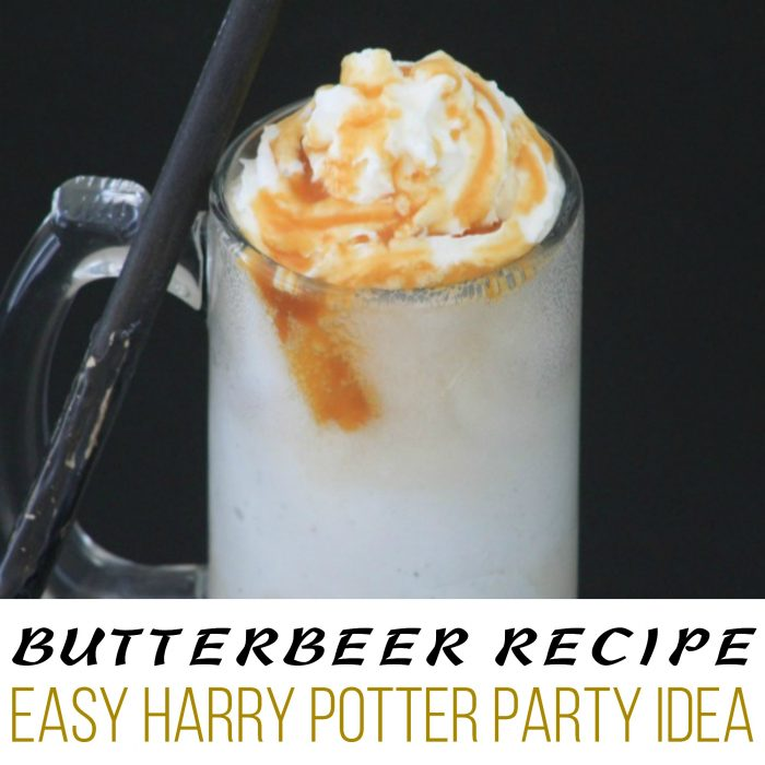 The Ultimate Harry Potter Treat, an Easy Butterbeer Recipe to serve at your Harry Potter party