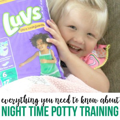 Everything you need to know about night time potty training
